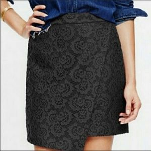 Madewell Lace Wrap Mini Skirt